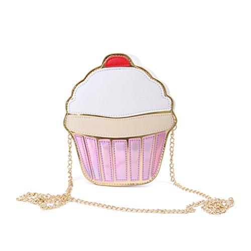 Honeymall Summer torta gelato in pelle sintetica motivo Borsa a tracolla donna bianco Cupcake small Torta Lugares Baratos Venta De Salida Precio De Descuento Baja JxeBWqh80