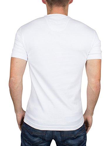 Superdry Herren Heritage Grummel-Logo-T-Shirt, Weiß Weiß