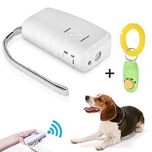 PorUna LED à ultrasons Répulsif pour Chien, 3 en 1 à ultrasons pour Animal Domestique Répulsif Anti aboiement Stop Barking Dog Training Contrôle Répulsif à Trainer