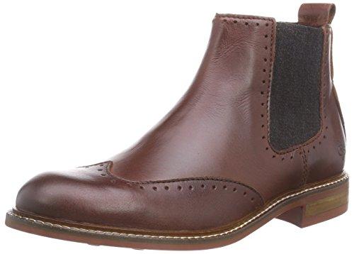 Marc O'Polo Chelsea Boot, Stivaletti a gamba corta mod. Chelsea, imbottitura leggera donna, Marrone (Braun (720 cognac)), 39