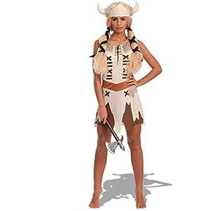Carnival Toys - Disfraz vikinga en bolsa, talla única, color beige (80200)