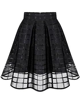 Falda de verano,Gusspower Faldas de organza de verano de las mujeres de cintura alta cremallera falda de Tul