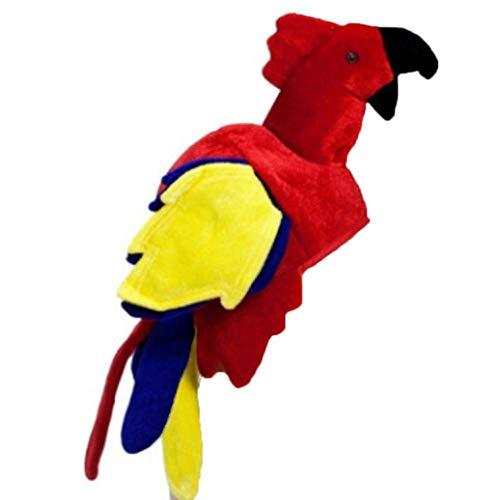 kapokilly Papageienhut, Vogel Kostüm Hut Junggesellenabschied Tanzparty Leistung Tier Styling Cap Big Bird Hat (Big Bird Kostüm Kinder)