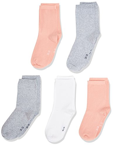 NAME IT Nkfsock 5p Noos, Calcetines para Niñas, Multicolor (Rose Tan), 32 (Talla del fabricante: 31-33)(Pack de 5)