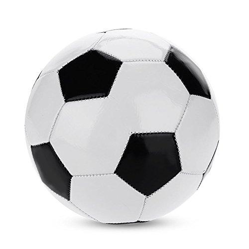 Fishlor Klassischer Fußball, Größe 4 Klassisches Schwarz-Weiß-Standardfußball-Trainingsfußball-Ausrüstungs-Schulspielzeug