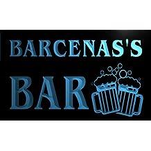 Cartel Luminoso w007373-b BARCENAS Name Home Bar Pub Beer Mugs Cheers Neon Light Sign