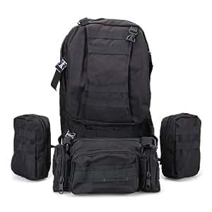 CARCHET® Every Day Carry EDC Sac à dos Nylon Noir Camping Randonnée Militaire Trekking