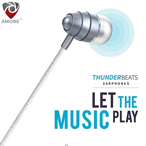 Amore Stereo Earphone Hands Free 35Mm Jack In Ear Super Extra Bass Headphone 70