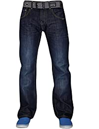 Nouvelle Homme Crosshatch WakNew jambe droite Denim Jeans