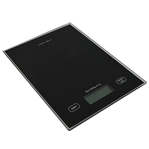 Küchenwaage 5000g/1g digital Glas Haushaltswaage Digitalwaage Waage