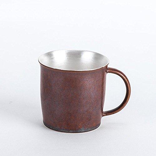 Handgefertigte Einzel - (LOYWT Jingdezhen handgefertigte Keramik-Kaffeetasse Einzel Cup 99 Silber 180ml, Rot)