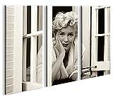 islandburner Bild Bilder auf Leinwand Marilyn Monroe V9 XXL Poster Leinwandbild Wandbild Dekoartikel Wohnzimmer Marke