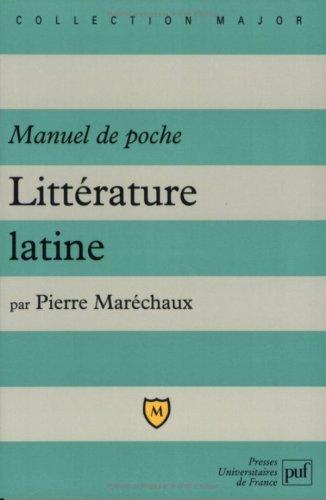 Littérature latine - Manuel de poche