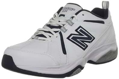 New Balance Men's White/Navy Trainer MX624WN- WIDTH D 6.5 UK, 40 EU, 7 US