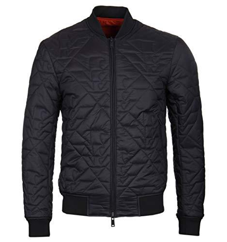 Emporio Armani Eagle Pattern - Reversible Black & Orange - Bomberjacke