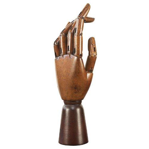 Main d'artiste articulée en bois