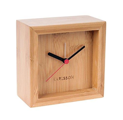 Preisvergleich Produktbild Karlsson KA5686 Wecker - FRANKY - Bambus - 10 x 10 x 5,5 cm