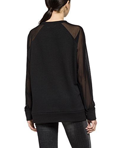 Replay Damen Sweatshirt Schwarz (Black 98)