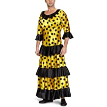 Limit Sport - Disfraz de flamenca para adultos, color amarillo y negro (MA898A)