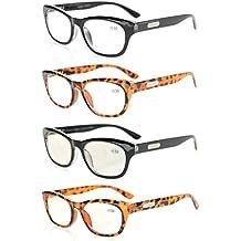 a761caf4c532a Eyekepper Lot de 4 Lunettes de Lecture au boulot - lunettes de vue qualite  - charniere