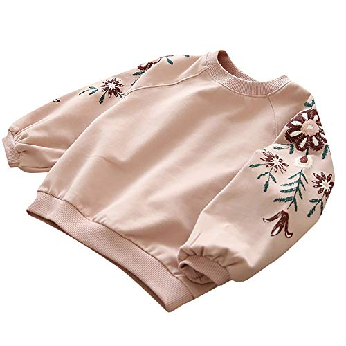 (Baby Mädchen Kleidung Girl Floral Pullover Sweatshirt Tops Hoodie Kleidung Outfits)