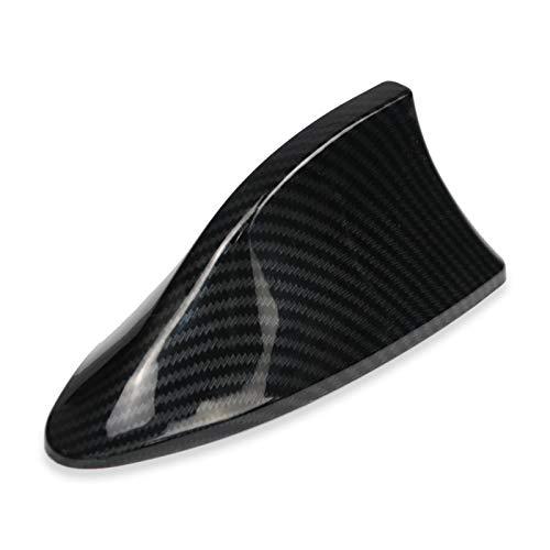 FangFang-Ge, 2019 Antenas de señal de antena de aleta de tiburón del coche for Ford VW BMW Hyundai Benz Auto Radio Antena antena de fibra de carbono de imitación aérea (Color : Dark Grey)
