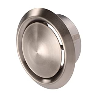 Blauberg UK 4 inch 100 mm Metal Ducting and Fittings - Stainless Steel Extract Air Valve - 100mm
