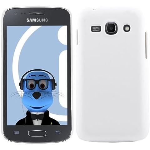 iTALKonline Samsung Galaxy Ace 3 GT-S7275 BIANCO Difficile Saluto dura della cassa della pelle Soft Grip Slim