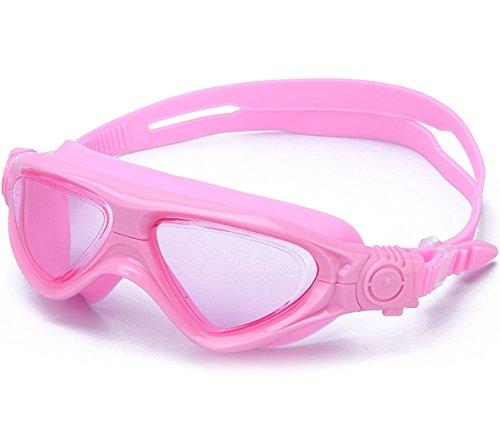 Schwimmbrille Masken Kinder Komfort Klare Anti-Beschlag Taucherbrille für Jungen Mädchen Kinder Junior Kleinkinder Jugendliche--rosa
