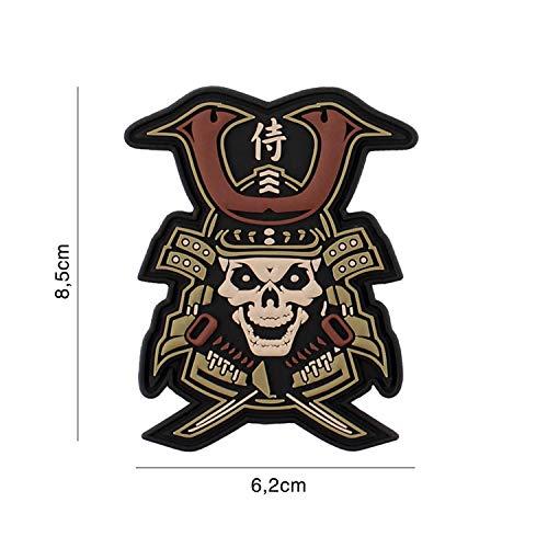 Tactical Attack Samurai Skull Softair Sniper PVC Patch Logo Klett inkl gegenseite zum aufnähen Paintball Airsoft Abzeichen Fun Outdoor Freizeit