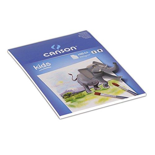 Book's Cover of Canson Kids Papier à dessin 20 feuilles A4 21 x 297 cm Blanc