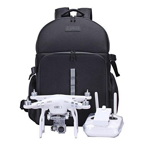 Lykus wasserabweisend Rucksack für DJI Phantom 4/4 Pro, Phantom 3, Phantom 2 Modelle, Größe eines Handgepackes, kann alle Zubehörteile verstauen