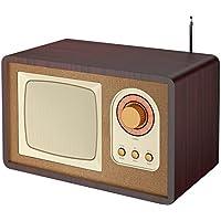 Roadstar HRA-1435US - Radio (FM, 5 W RMS), color marrón