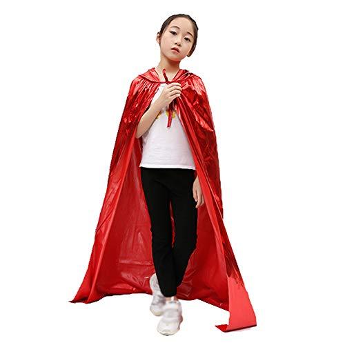 (Demarkt Halloween Umhang Karneval Fasching Kostüm Vampir Kostüm mit Cape Rot 150cm)