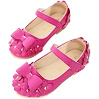 ♬ GongzhuMM Sandales Bébé Fille 21-30 Été Chaussures Fille Ballerines Chaussures de Princesse Chaussures de Baptême pour Tout-Petits 2-7 Ans Fille
