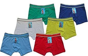6   12 Stück Kinder Jungen Boxershorts Unterhosen Kids Unterwäsche Baumwolle 92-122 (104-110, Mehrfarbig 12 Stück)