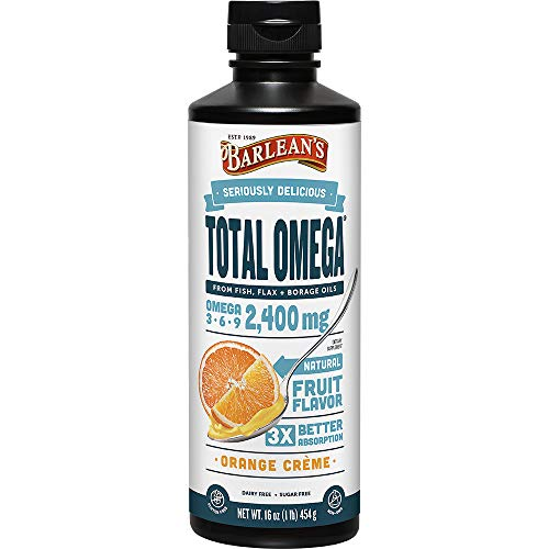 Omega total 3Â · 6Â · 9 Suplemento, crema de naranja 16 oz (454 g) - Barlean de