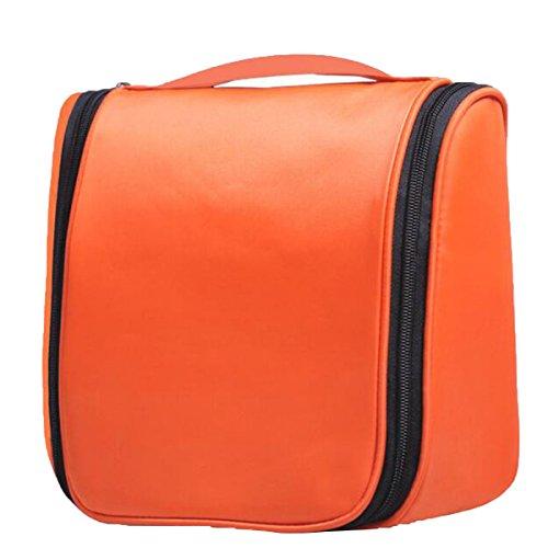 Jia Qing Sacchetto Cosmetico Di Corsa Di Viaggio Di Nylon Multifunzionale Di Viaggio Di Viaggio Impermeabile Sacchetto Cosmetico Di Grande Capacità Orange