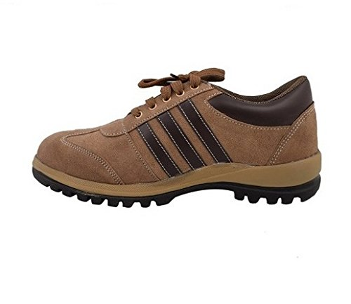 Neosafe Sporty A5008 PVC Safety Shoes, Size 9, Brown