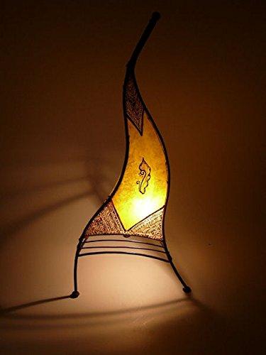 Marokkanische Henna Leuchte orientalische Stehlampe aus Leder Marrakesch - 70 cm