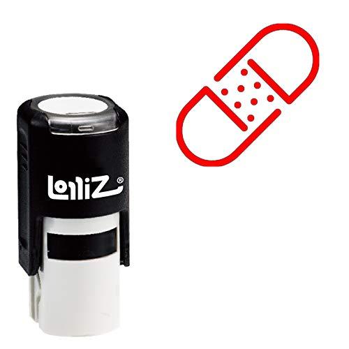 LolliZ Modern Symbol Series - Patch Self-Inking Rubber Stamp (World Series Patch -)