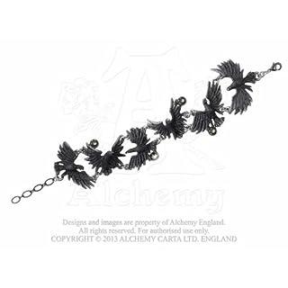 Alchemy Gothic Flocking Ravens Bracelet (A101)