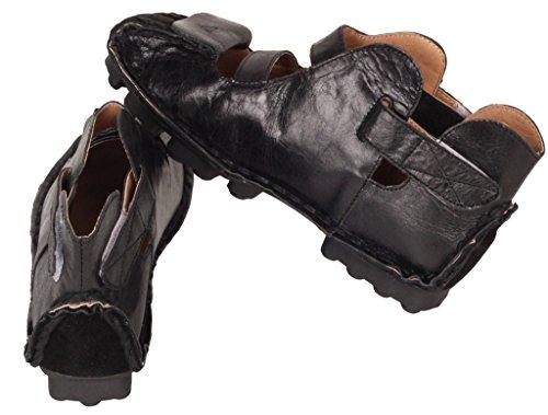 Vogstyle Baixos Preto Couro Senhora Vintage art Mão À 1 Do Sapatos De Genuíno Feitos da0vq