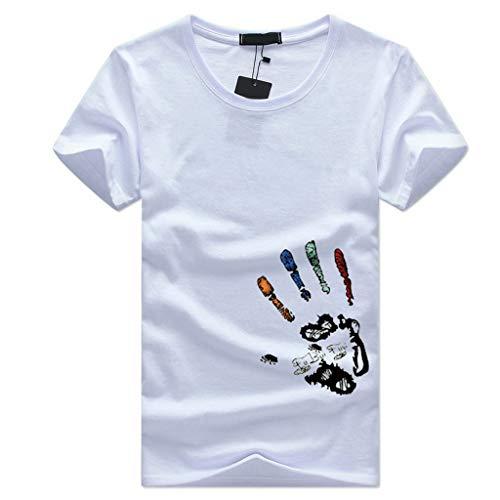 VWsiouev Männer Casual Kurzarm T-Shirts Drucken Stretch Rundhalsausschnitt Wicking Baseball T-Shirts -