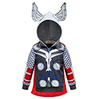 Aramomo Kids Superhero Hoodie Pocket Zipper Long Sleeve Sweatshirt Jacket for Kids Boys Girls Aged 1-7 (Thor,Tag 140/6T-7T)