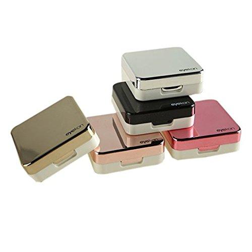 Mini Travel, einfacher Kontaktlinsenbehälter rose gold (Kontaktlinsenbehälter Bulk)
