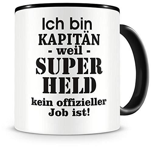 Samunshi Ich bin Kapitän Tasse Beruf Geschenk Kaffeetasse Teetasse Kaffeepott Kaffeebecher Becher...