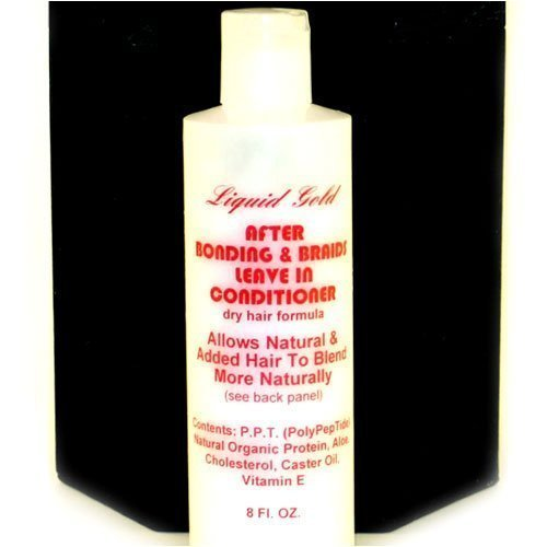 Liquid Gold Brush-on Bonding Adhesive for Cold Fusion Hair Extensions and Braids - Leave-In Conditioner by Lloneau Products