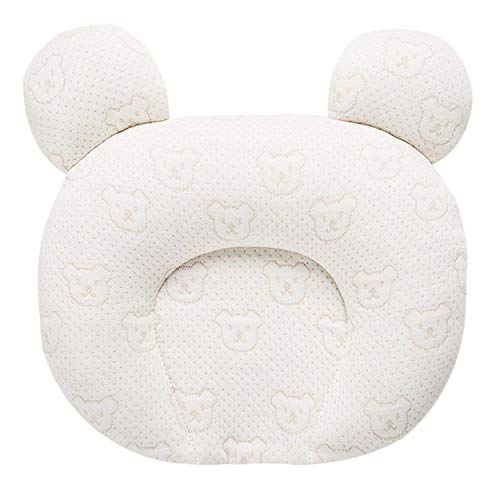 BIGLOVE Baby Orthopaedic Pillow Supports The Head and Neck,Baby Neck Support Sleeping Pillow Flat Head Baby Pillow Prevention of Plagiocephaly,25x28cm