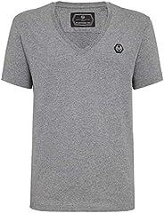 Philipp Plein Herren T-Shirt Platinum Cut V-Ausschnitt Original